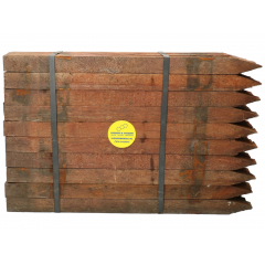 Piketten Azobe 2,5x2,5x40 cm per 50 stuks