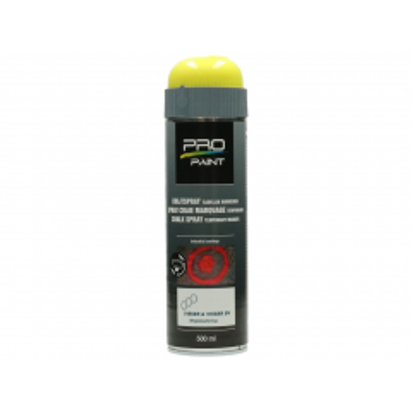 Wegenverfspuitbus 500 ml Pro-Paint krijtspray geel