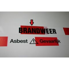 Afzetband rood/wit per rol: BRANDWEER