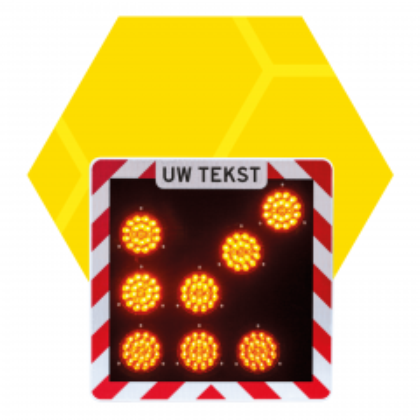 Actiescherm vast a/r3/dor 60x60 cm met LED-pijl