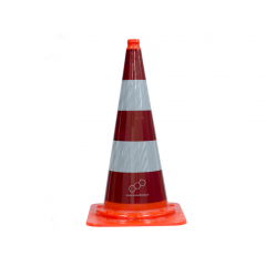 Verkeerskegel rood / wit kl II RWS Molan uit een geheel