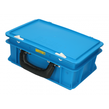 Koffer voor meetapparatuur 30x20x15 cm blauw